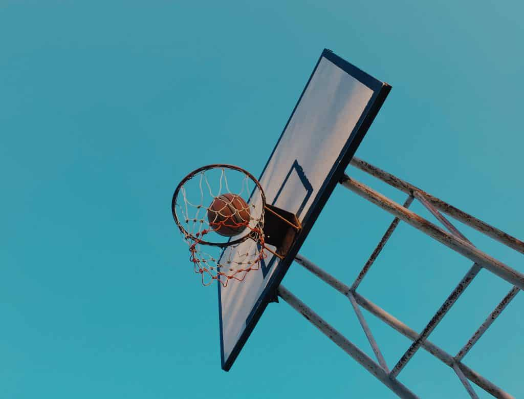 basket with a ball