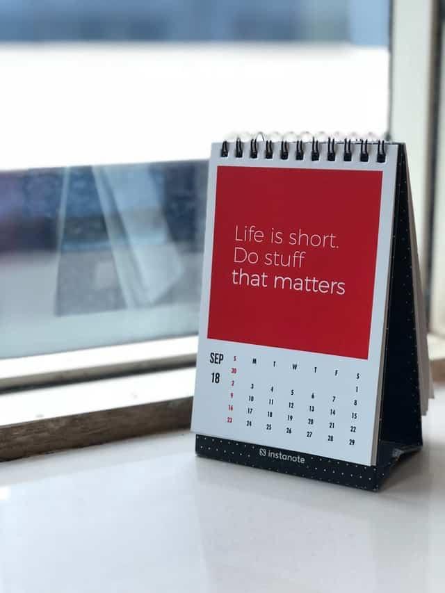Quote on Calendar