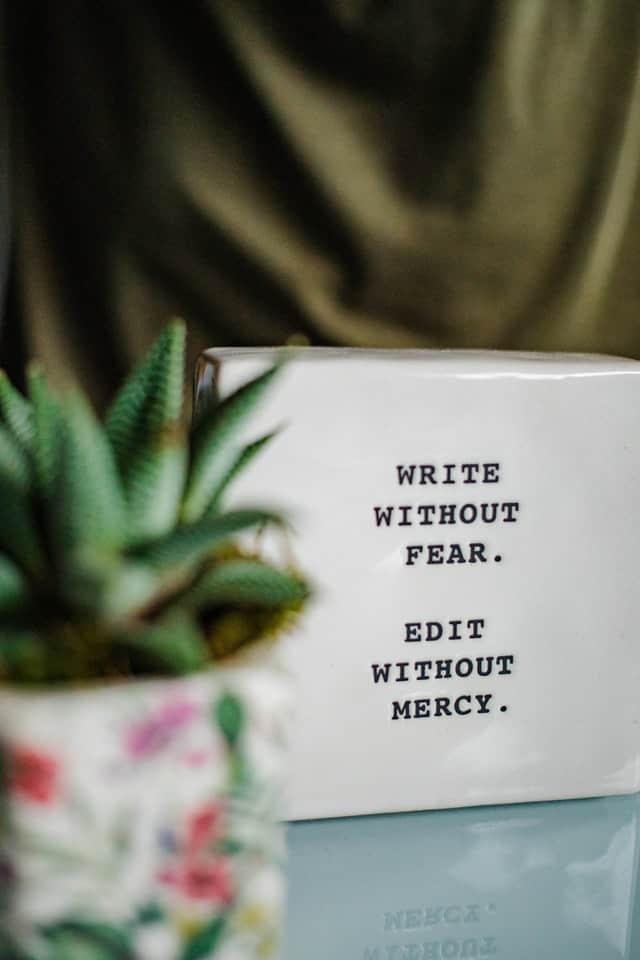 write first then edit a romance novel