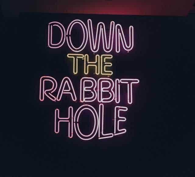 White Rabbit Alice in wonderland quote